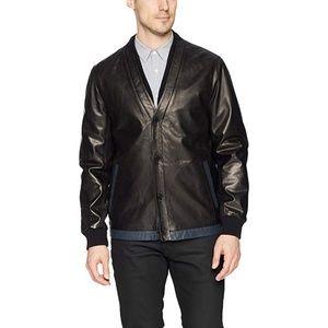 Campaign Black 100% Leather Mens Jacket Size L
